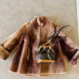 Joseph Magnin Vintage Dyed Lamb Coat